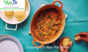 fufu and okra soup