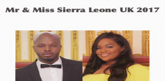 CONGRATULATIONS TO THE WINNERS OF MR AND MISS SIERRA LEONE UK 2017