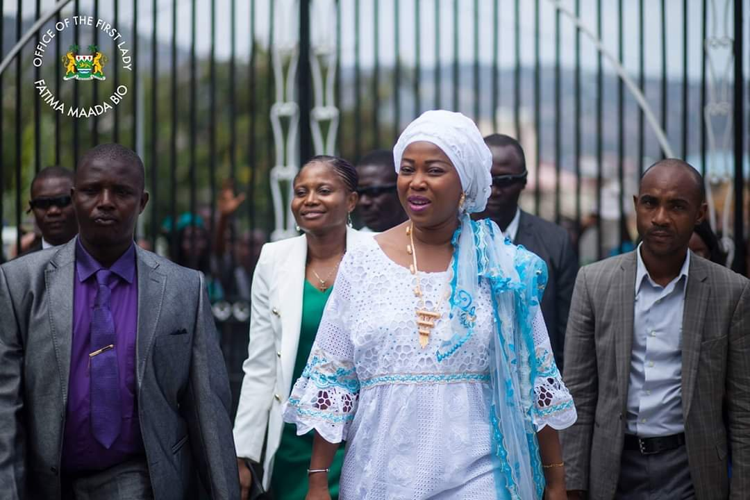 FIRST LADY OF THE REPUBLIC OF SIERRA LEONE CELEBRATES ONE YEAR IN GOVERNANCE WITH INTER-FAITH LEADERS AT THE STATE HOUSE LAWN IN FREETOWN.